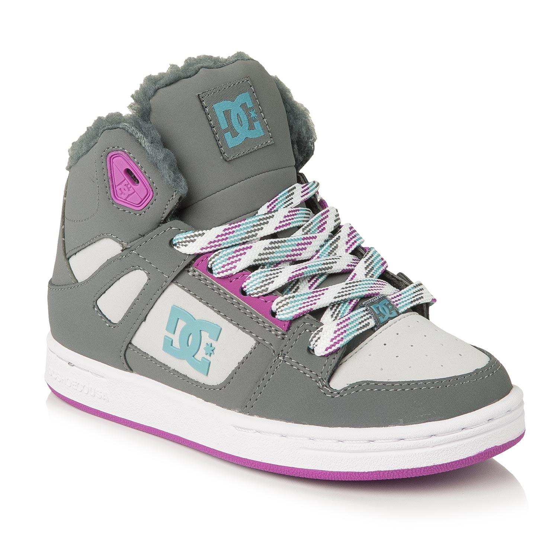Zimní boty DC Rebound Wnt G Kid grey/blue/blue