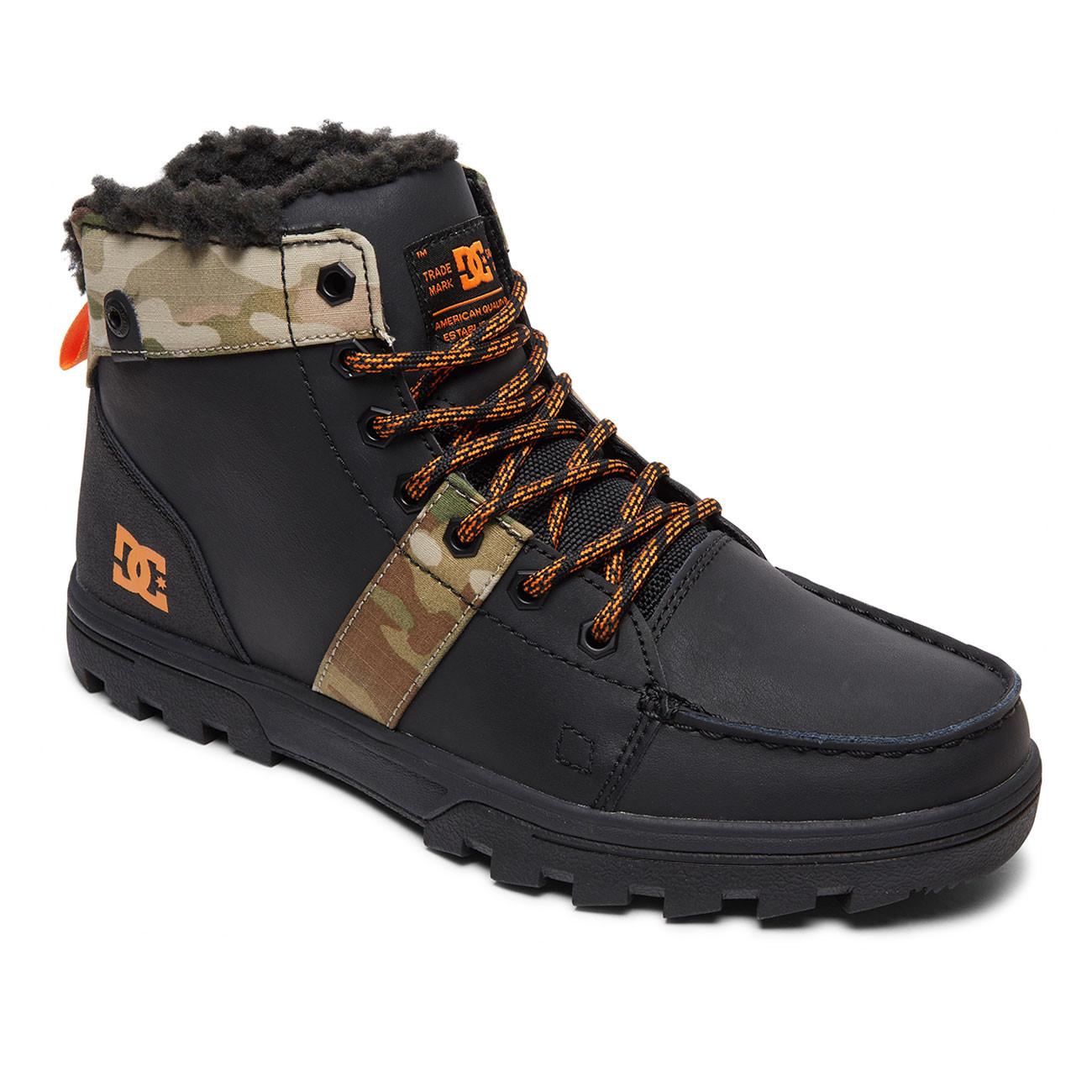 dc1b5b0e9 Zimné topánky DC Woodland black/multi   Snowboard Zezula