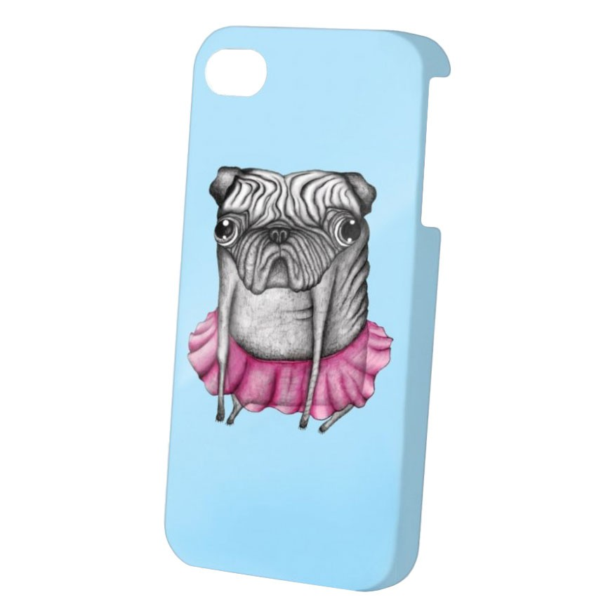 Obal na telefon Dedicated Pug Iphone 4 blue