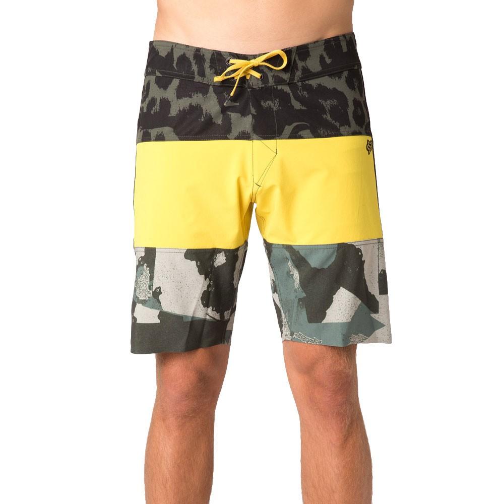 Boardshortky Fox Camino Stacker yellow vel.30 15 + doručení do 24 hodin