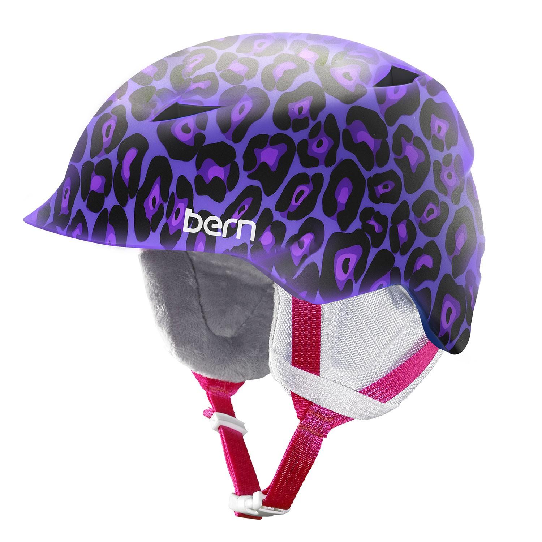 Helma Bern Camina satin purple leopard