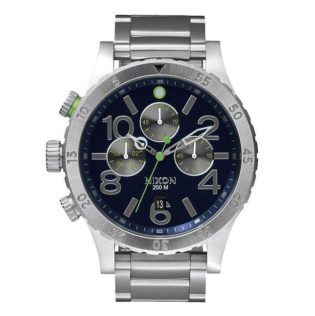 Hodinky Nixon 48-20 Chrono midnight blue/volt green