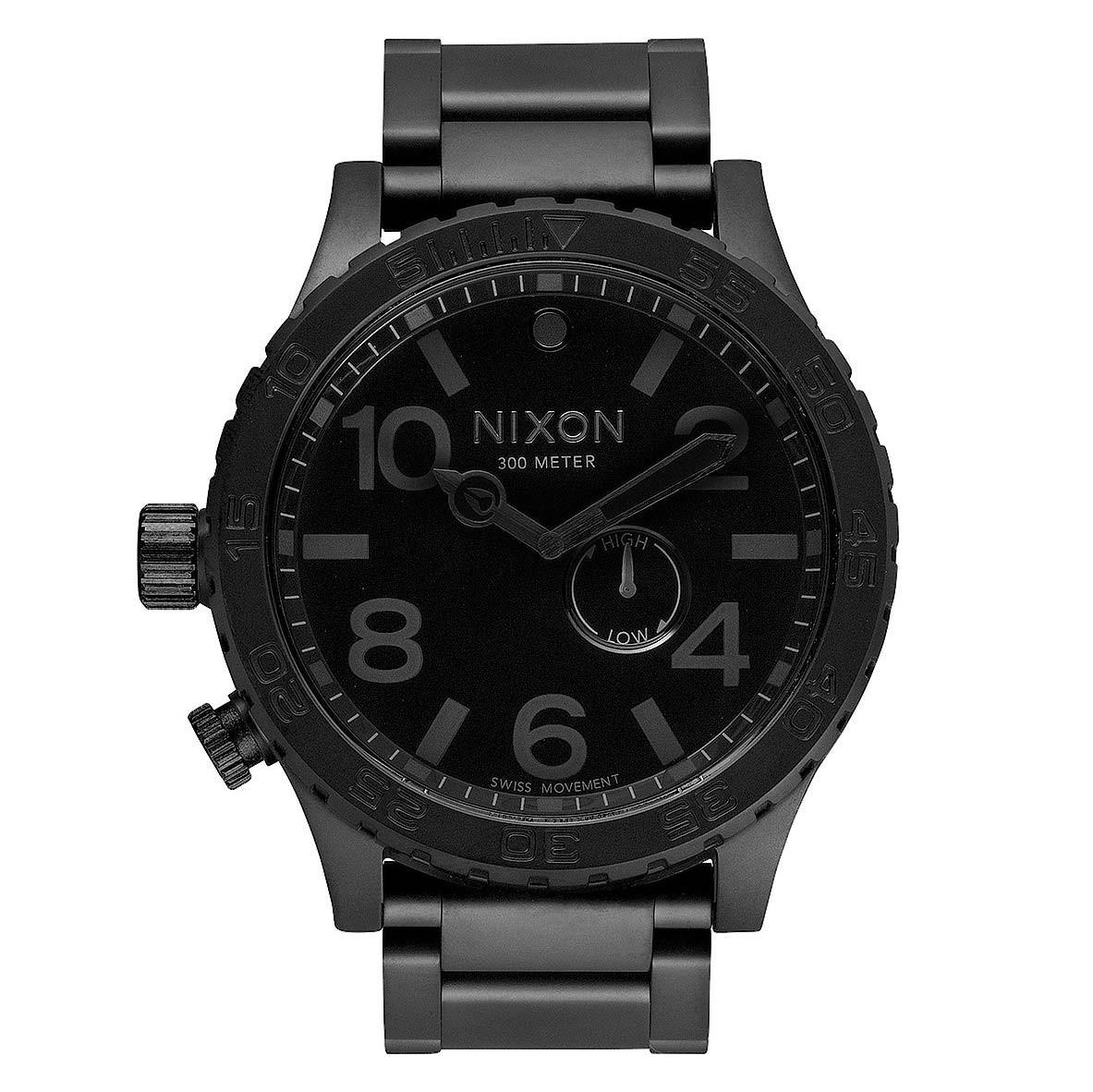 Hodinky Nixon 51-30 all black vel.ocel 15 + doručení do 24 hodin