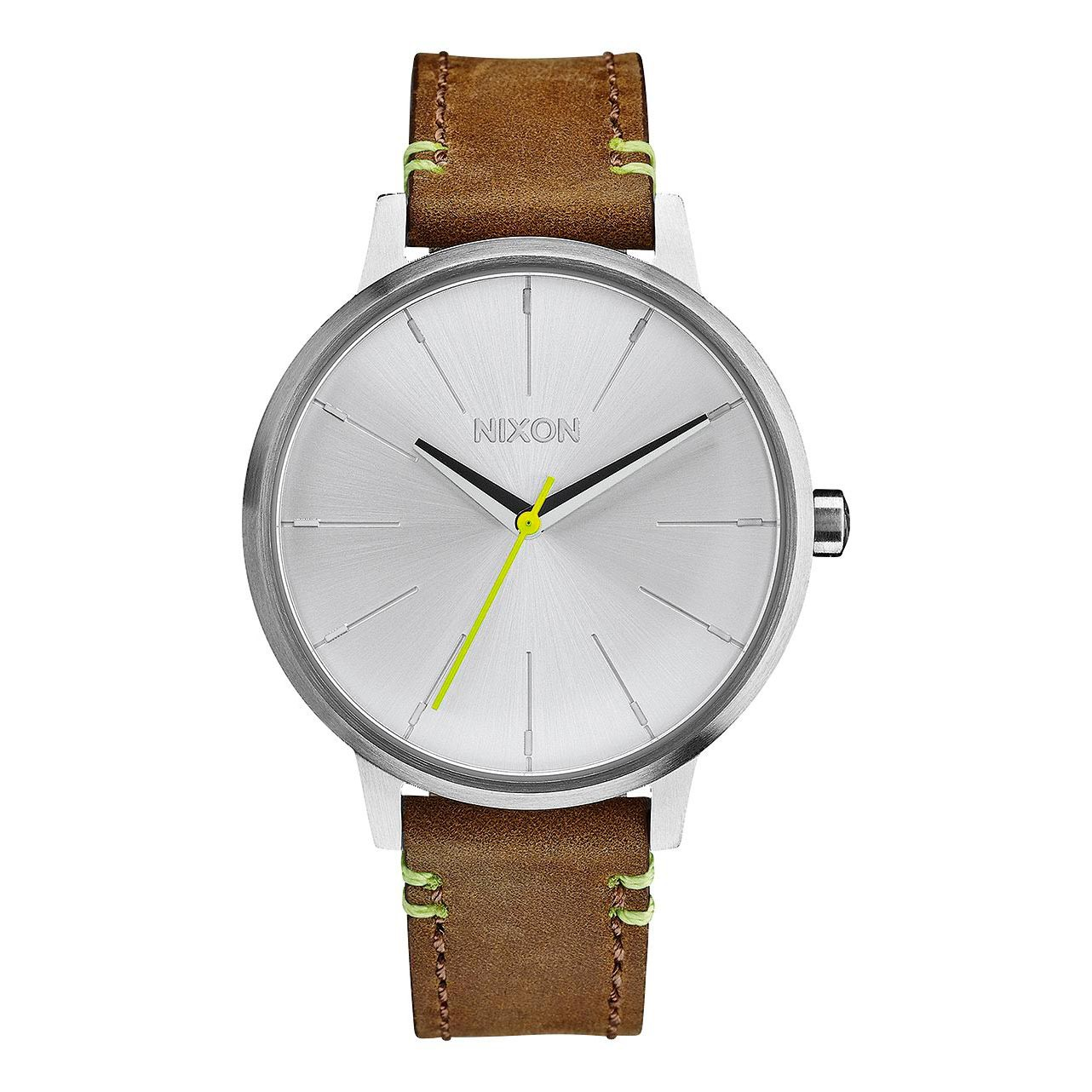 Hodinky Nixon Kensington Leather brown/lime
