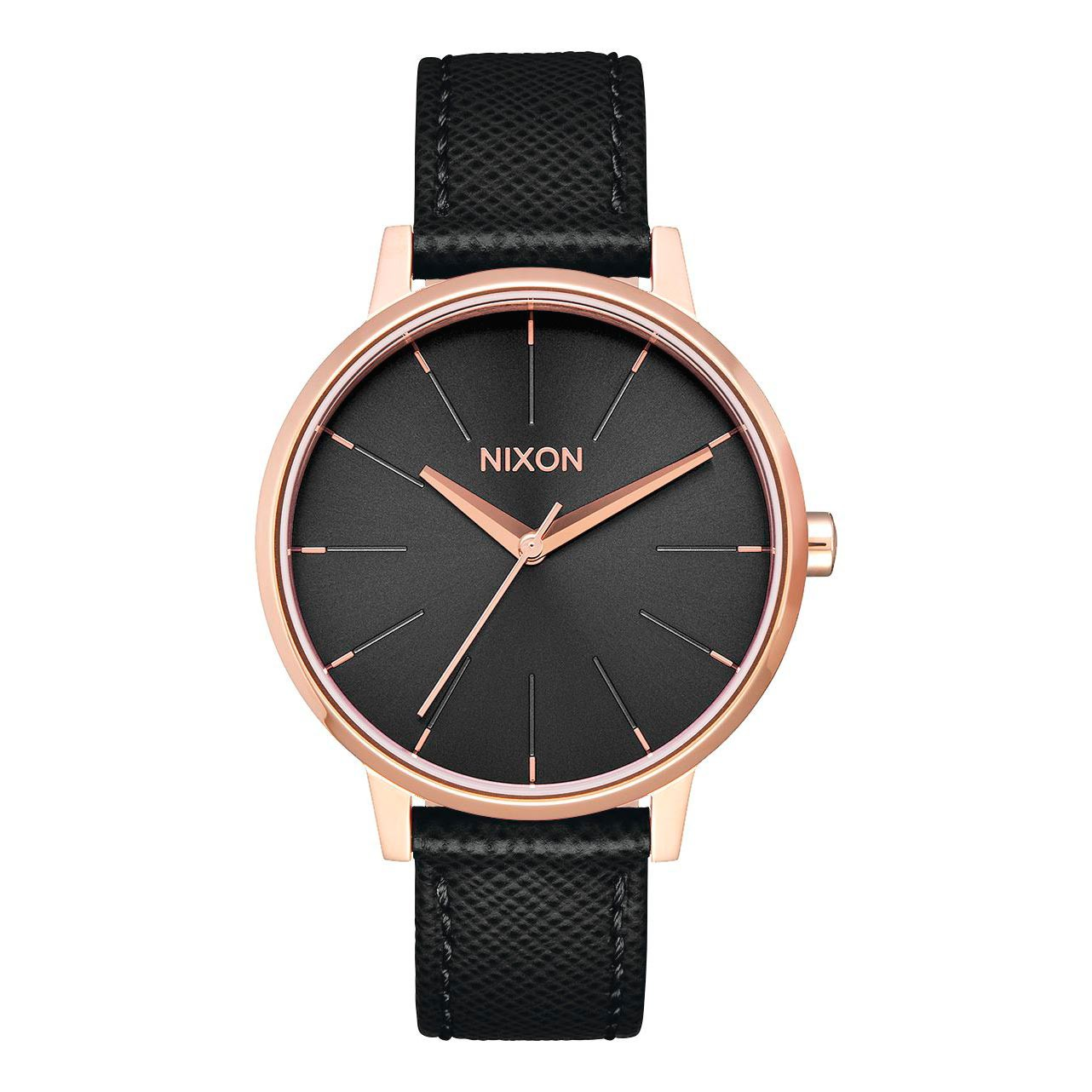 Hodinky Nixon Kensington Leather rose gold/black