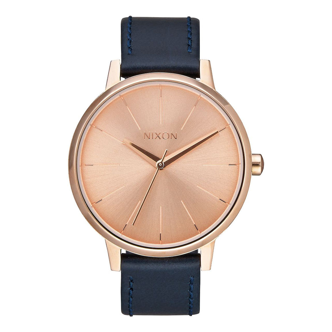 Hodinky Nixon Kensington Leather rose gold/navy