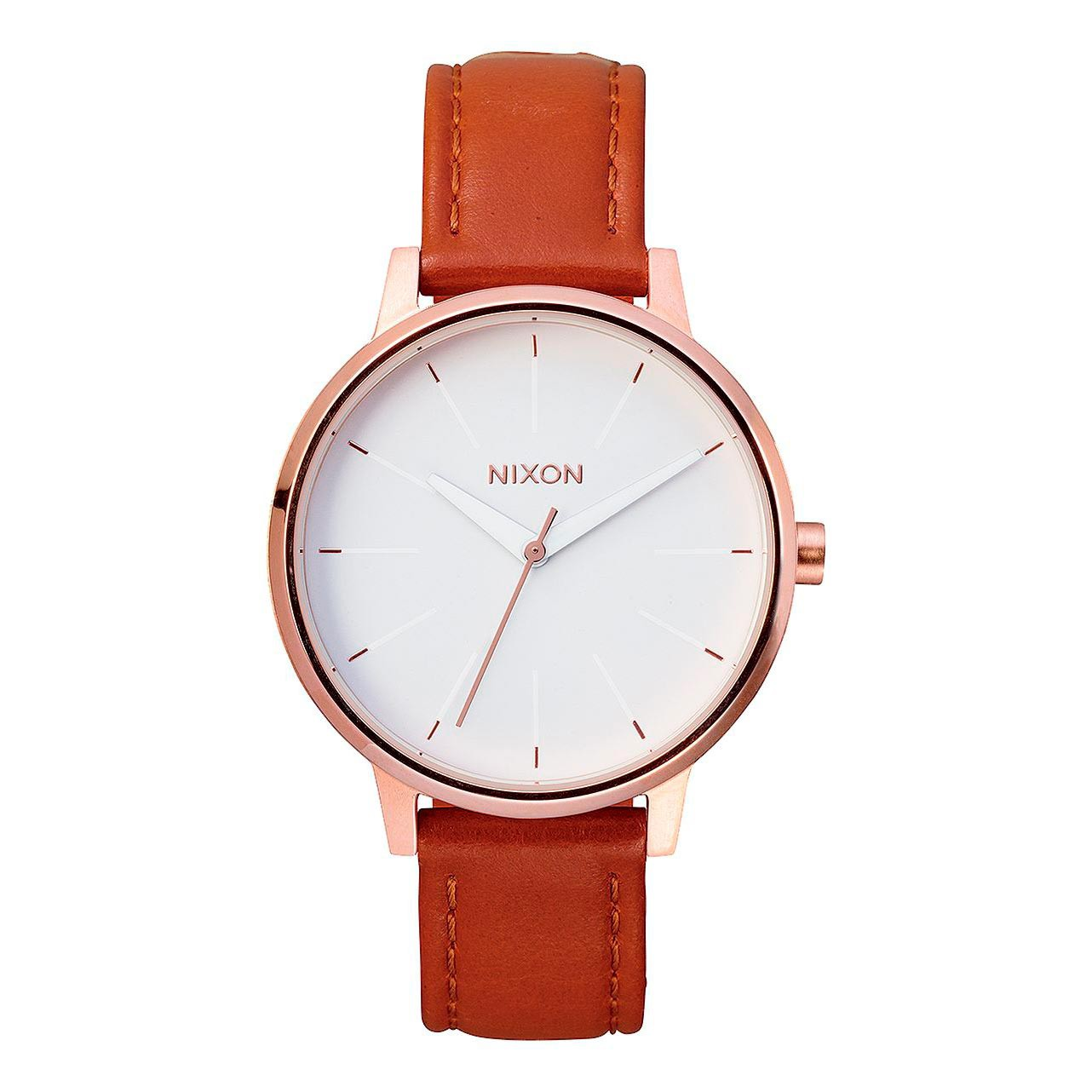 Hodinky Nixon Kensington Leather rose gold/white
