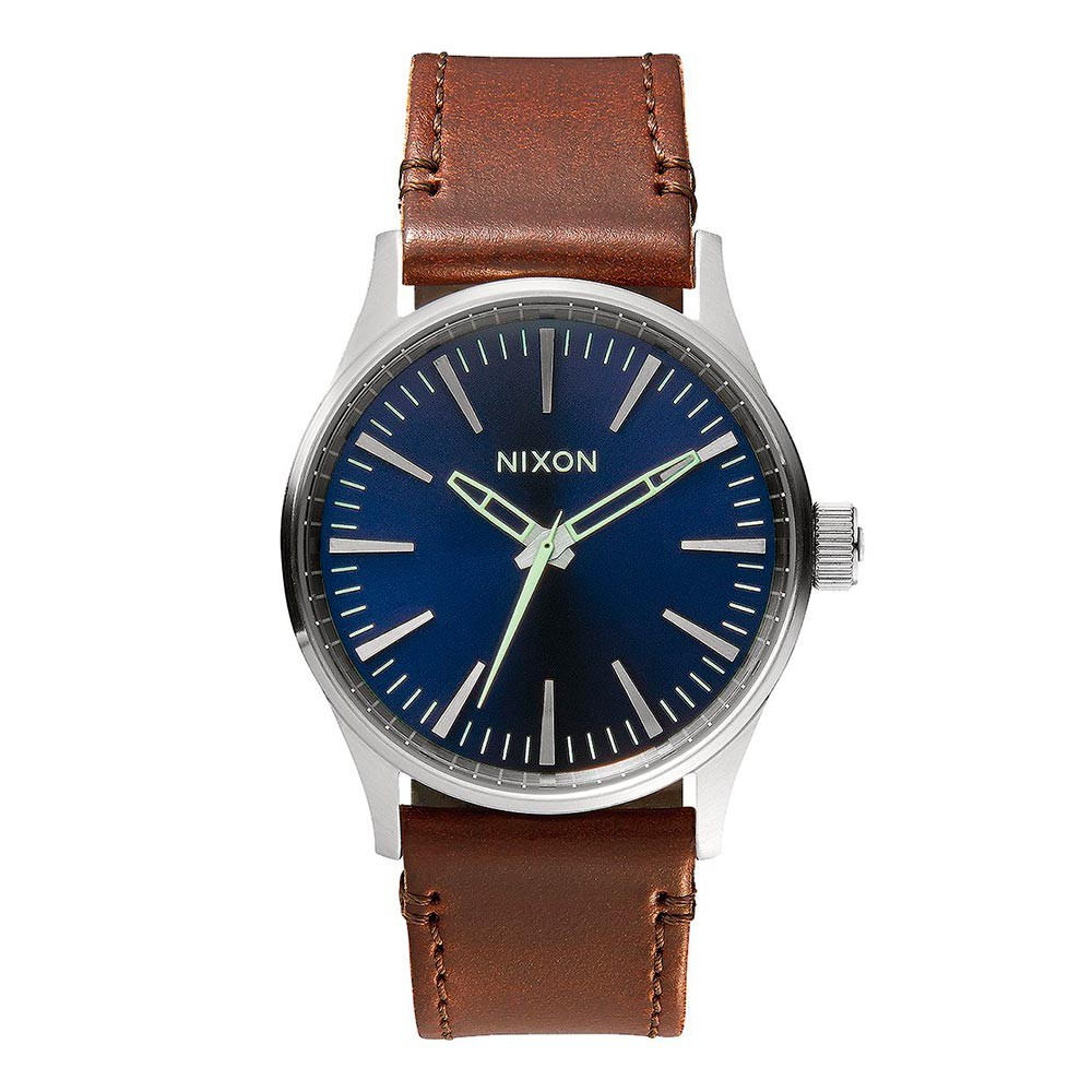 Hodinky Nixon Sentry 38 Leather blue/brown