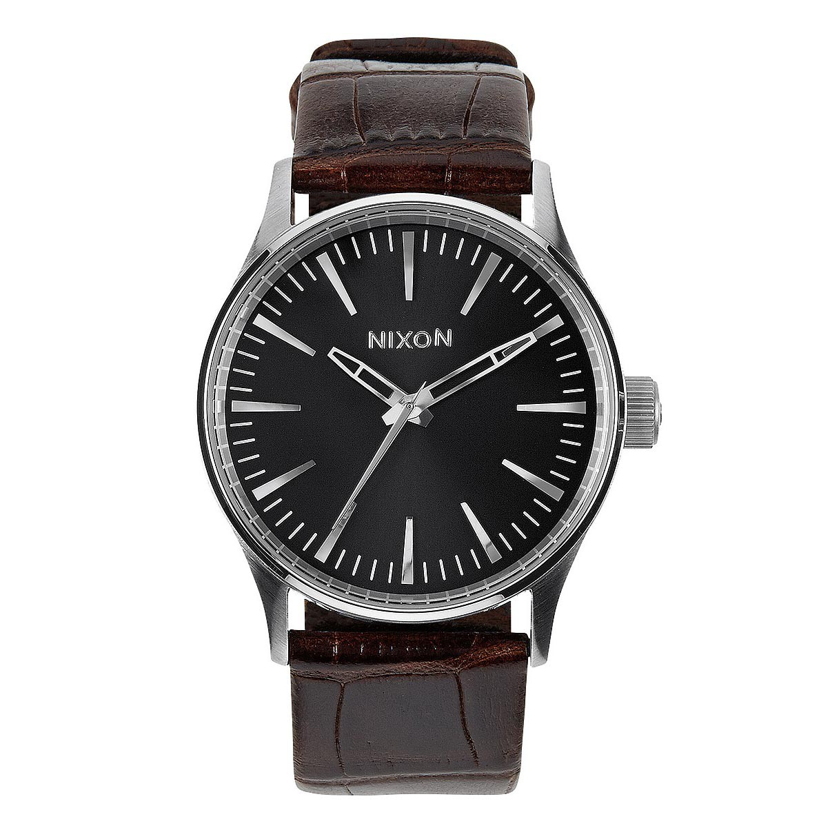 Hodinky Nixon Sentry 38 Leather brown gator