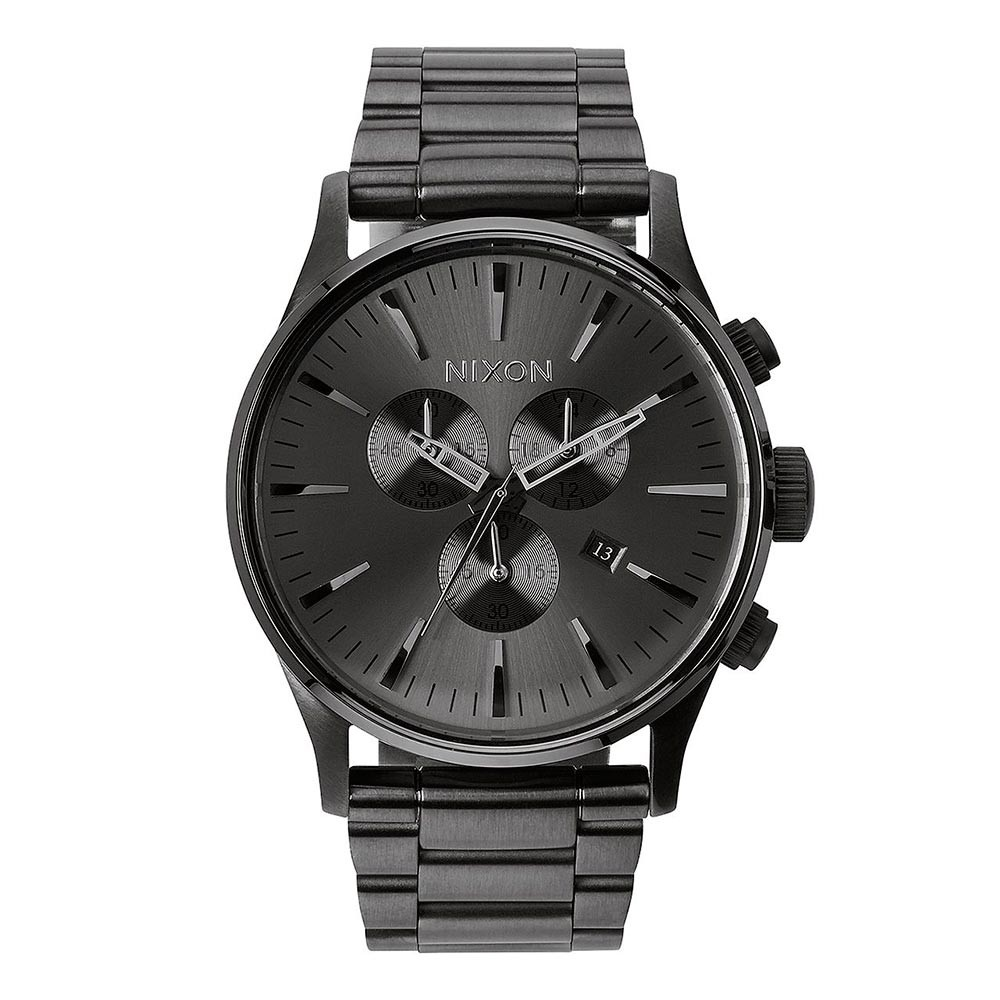 Hodinky Nixon Sentry Chrono all gunmetal