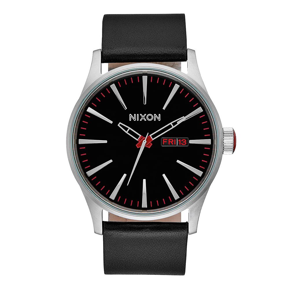 Hodinky Nixon Sentry Leather black