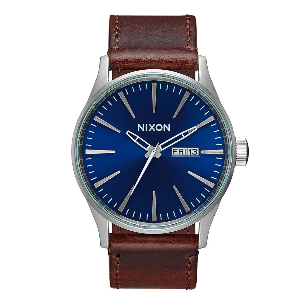 Hodinky Nixon Sentry Leather blue/brown