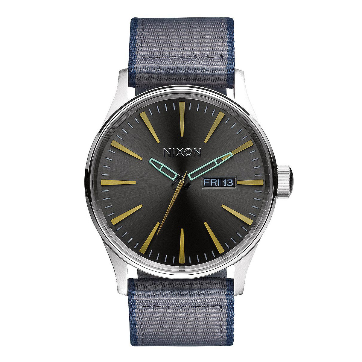 Hodinky Nixon Sentry Leather gunmetal/grey