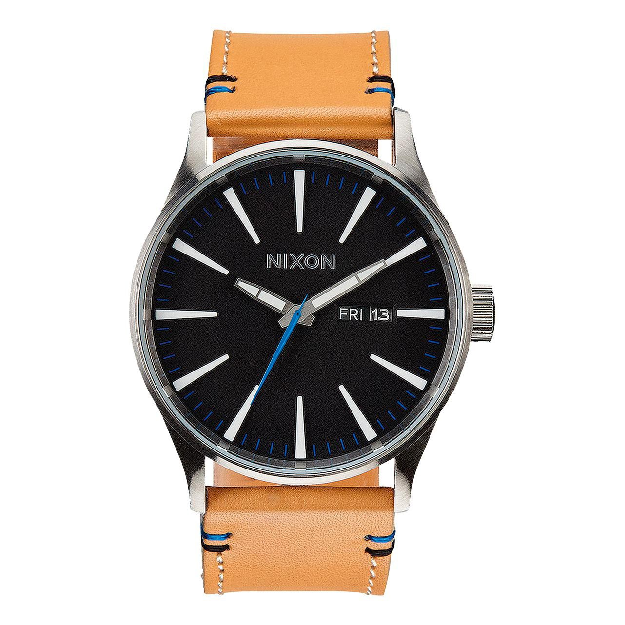 Hodinky Nixon Sentry Leather natural/black