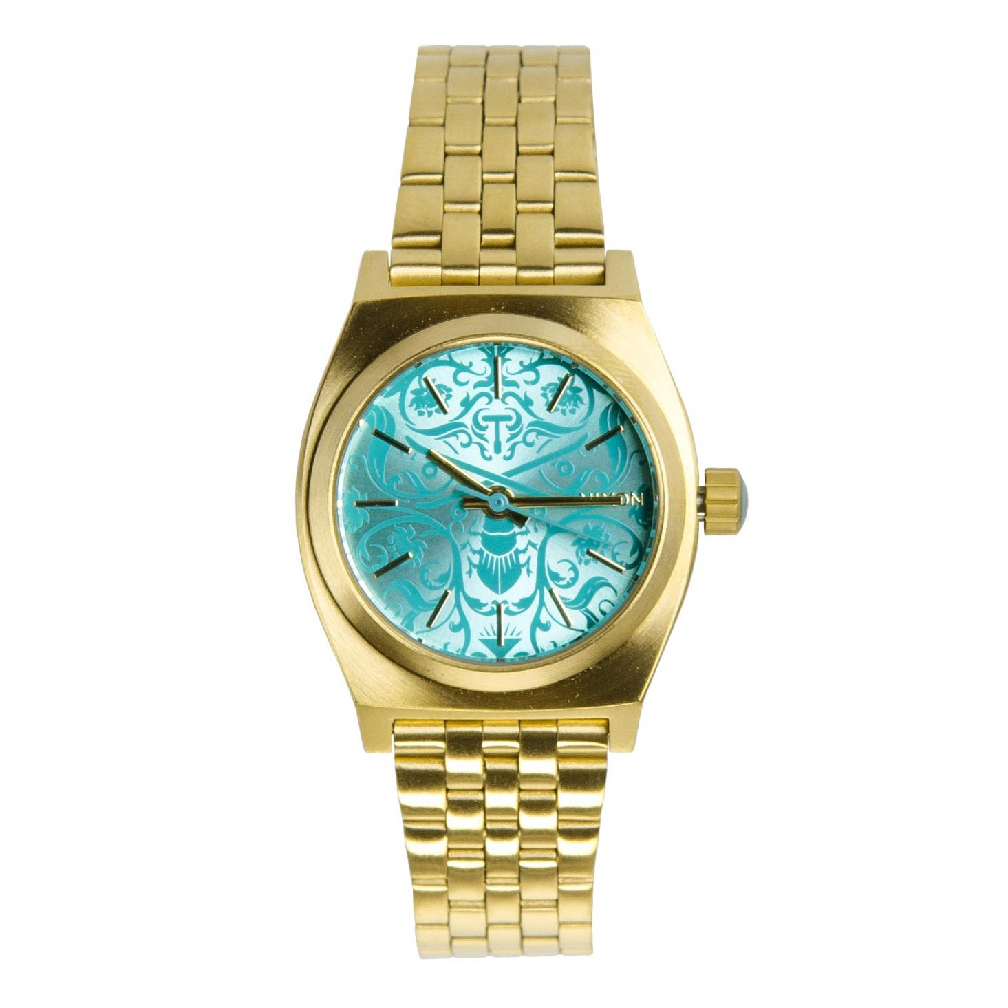Hodinky Nixon Small Time Teller gold/blue/beetlepoint