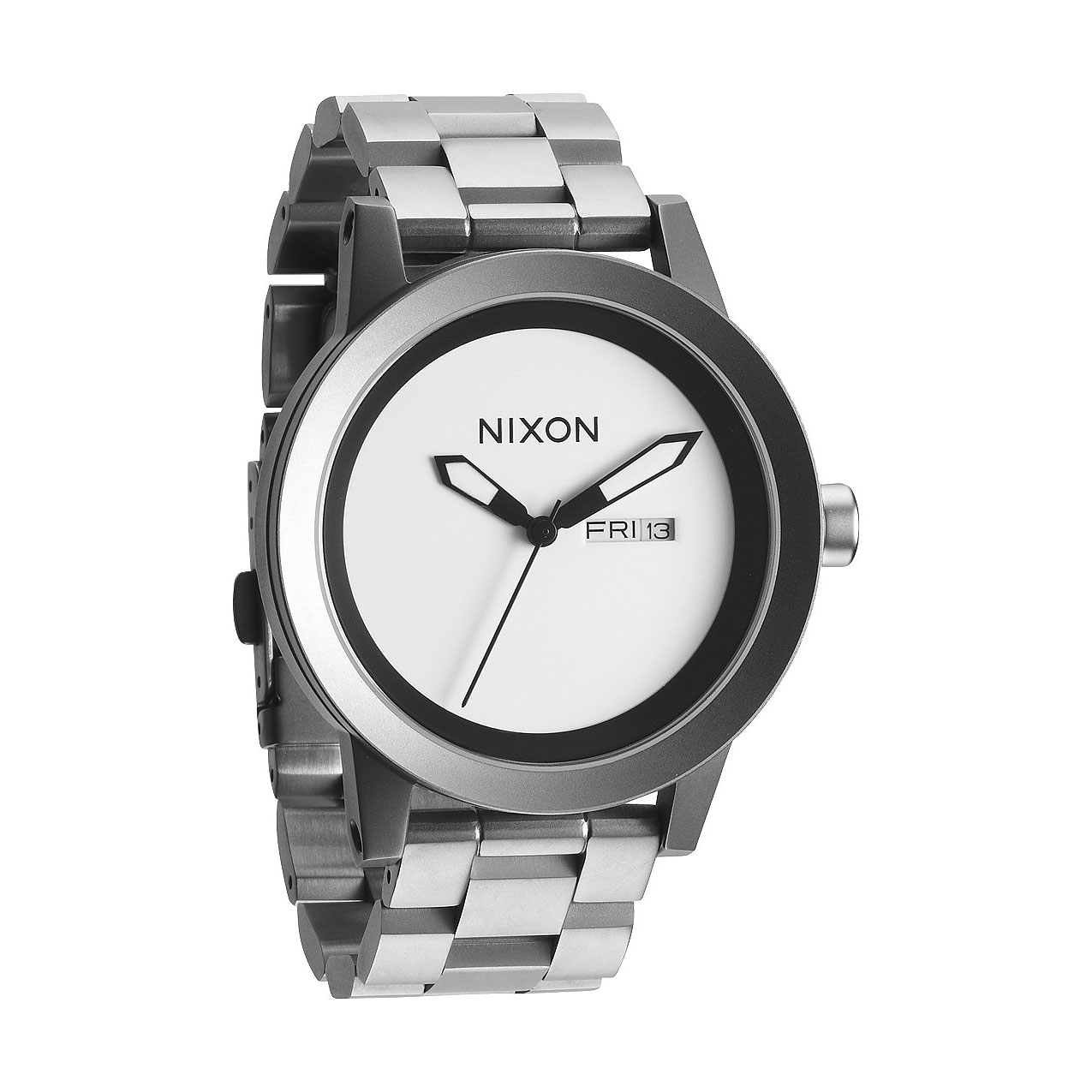 Hodinky Nixon The Spur sanded steel wht  f9f2b147390