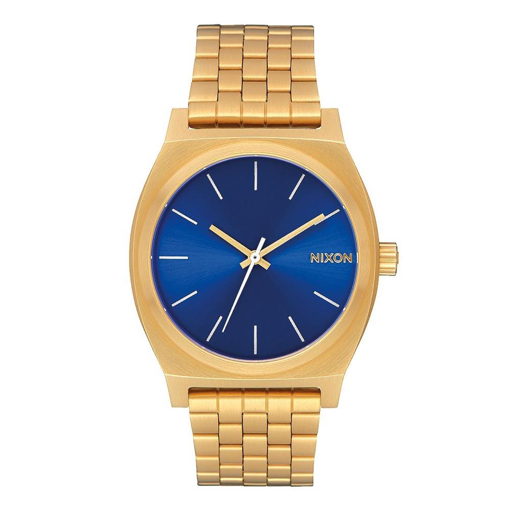 Hodinky Nixon Time Teller all gold blue sunray  8160ddafc7d