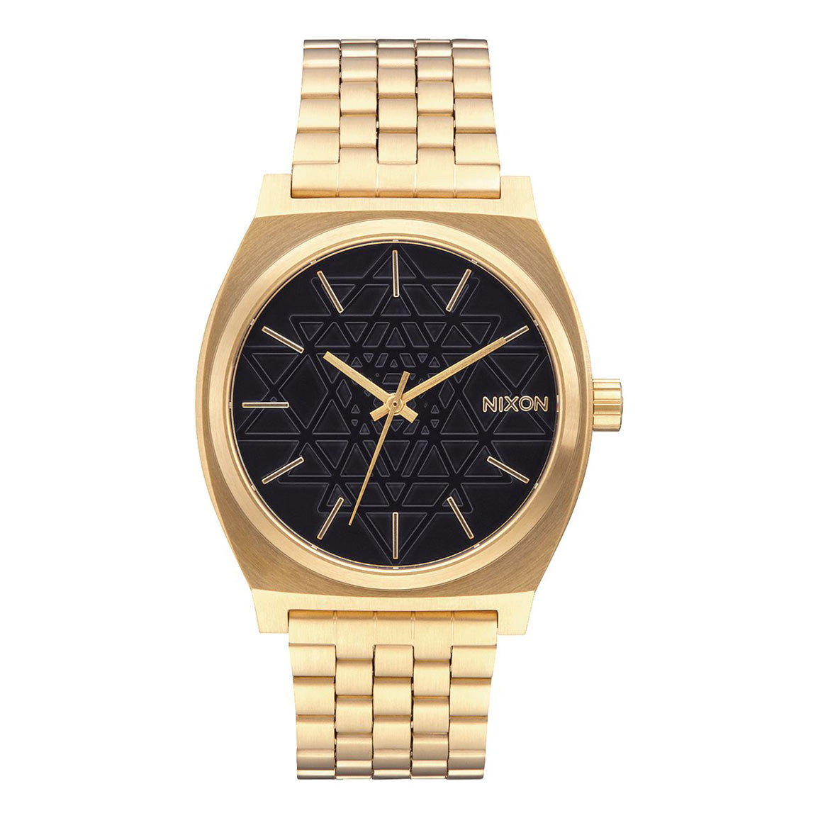 Hodinky Nixon Time Teller gold/black stamped