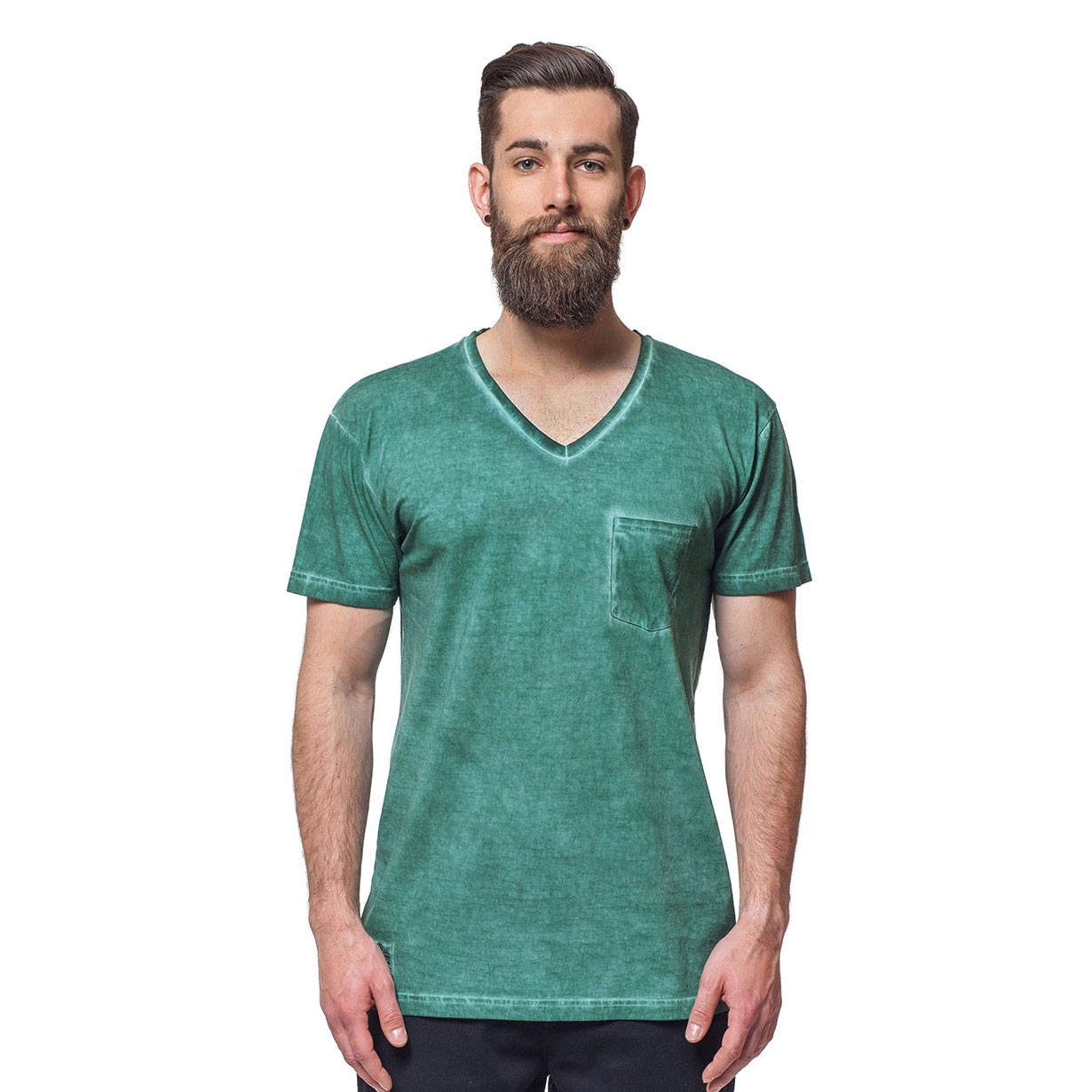 Tričko Horsefeathers Collapse washed green