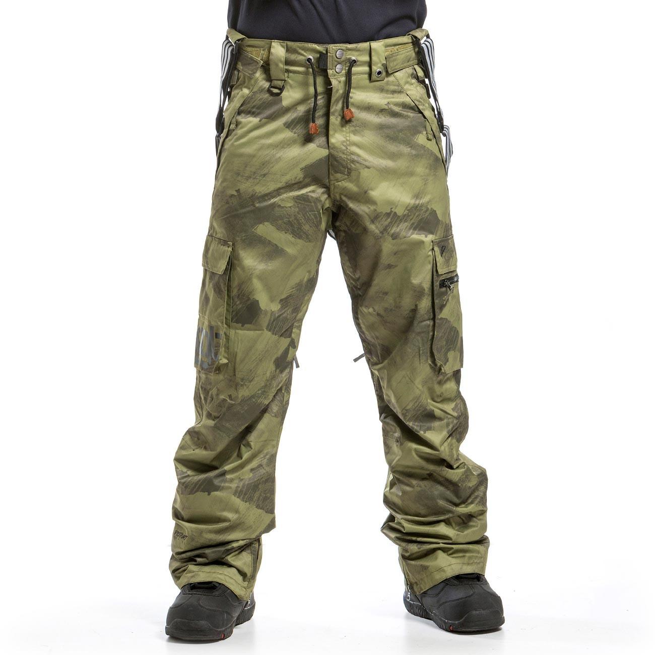 Kalhoty Nugget Dustoff 3 debris army print