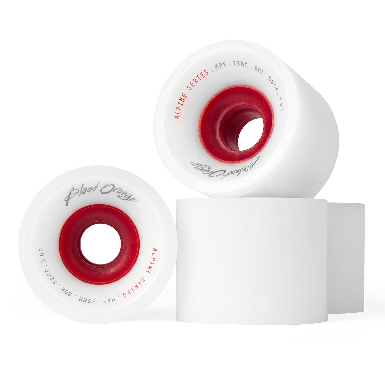 Kolečka Blood Orange Alpine 73mm/80A white/red vel.73 mm / 80A 16 + doručení do 24 hodin