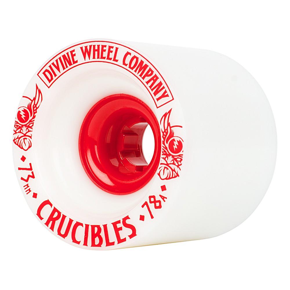 Kolečka Divine Crucibles 73Mm/78A white/red
