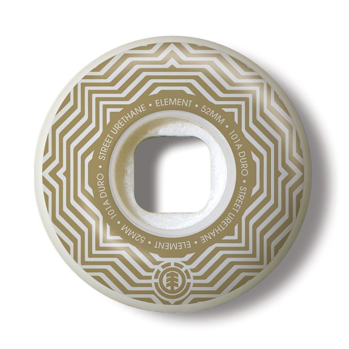 Kolečka Element Pattern Street white/gold