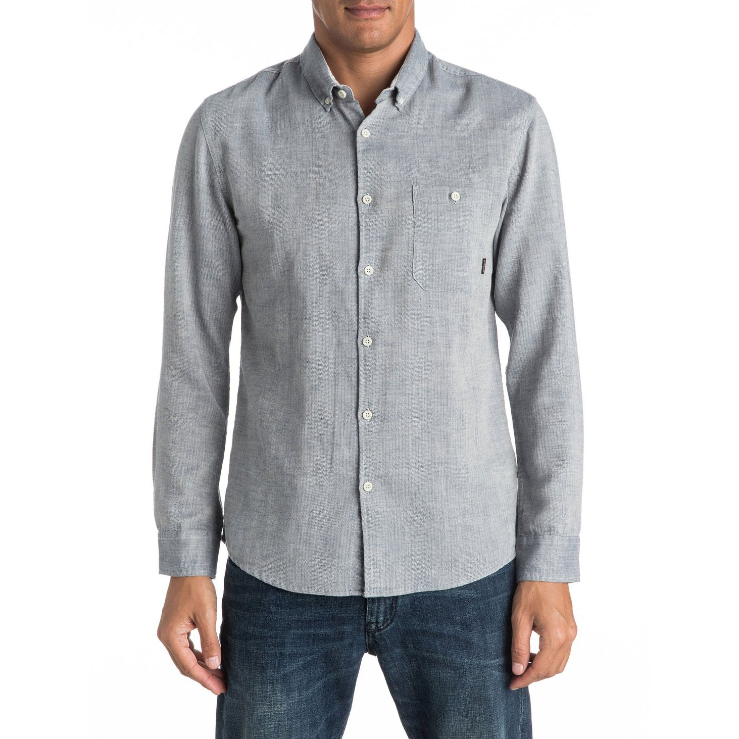 Košile Quiksilver Chapman Seas dark denim