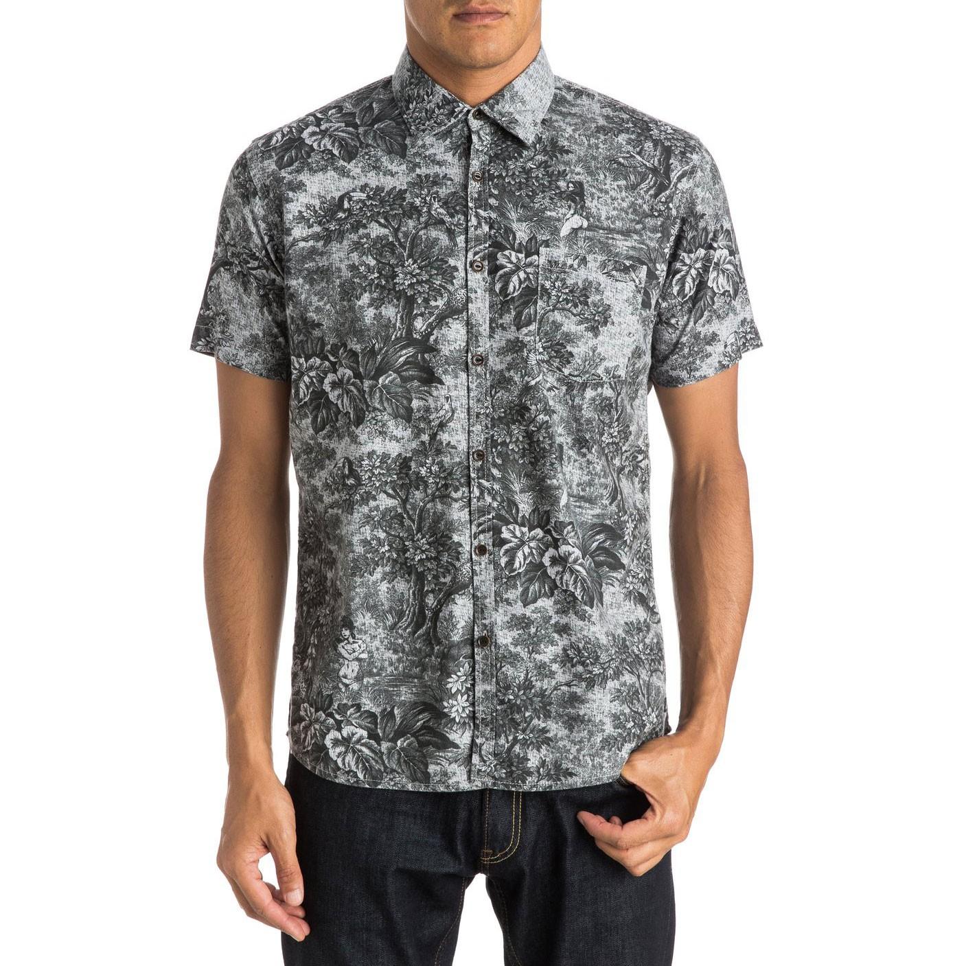 Košile Quiksilver Sunset Tunnel Shirt Ss dark shadow