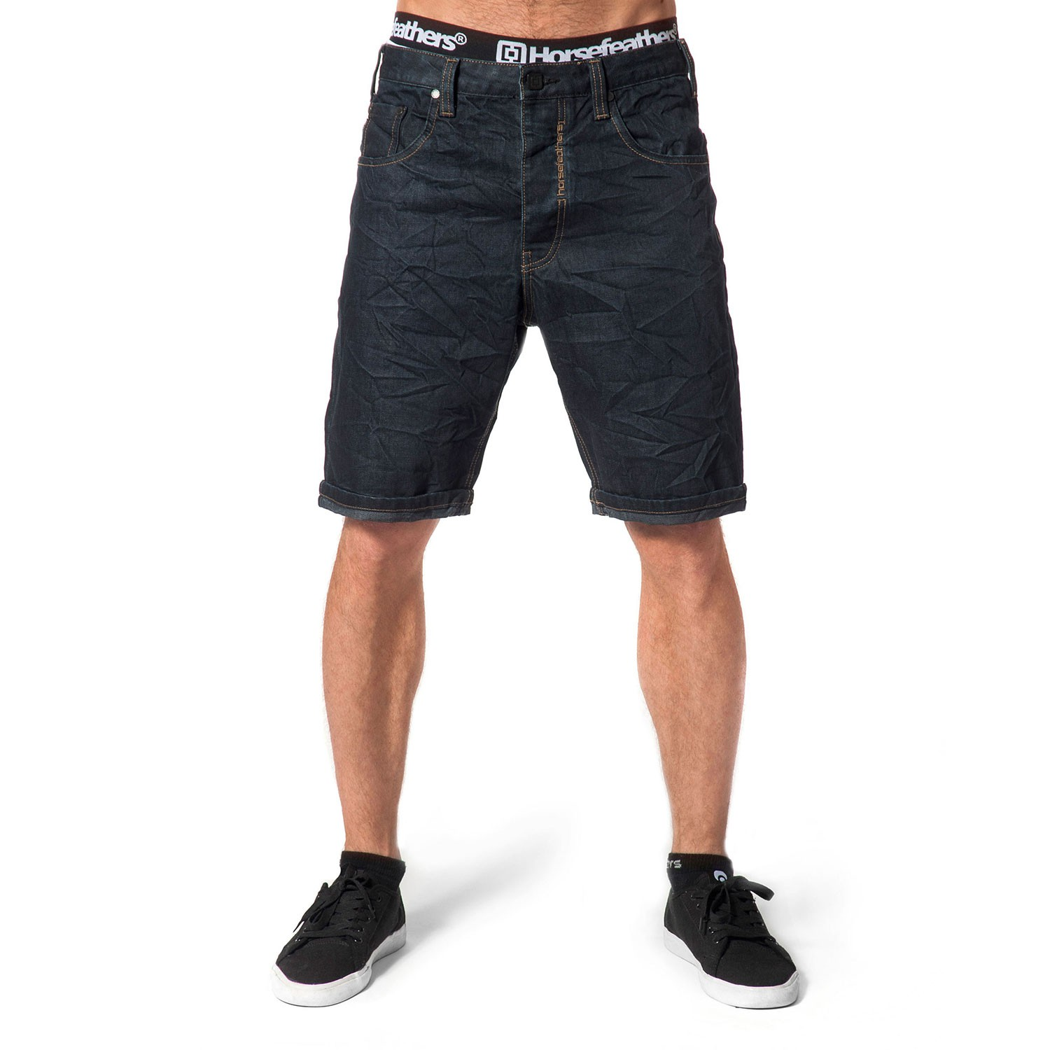 Kraťasy Horsefeathers Ground Shorts dark indigo
