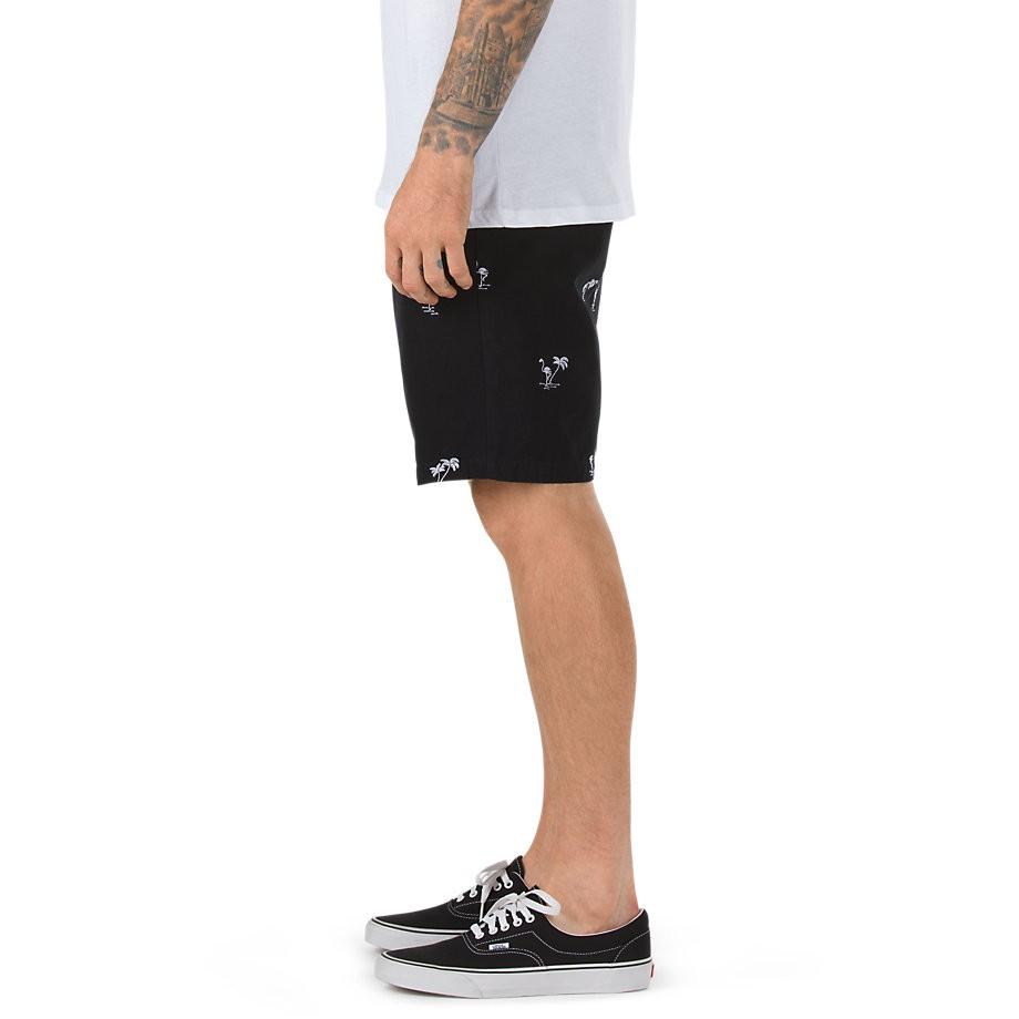 vans dewitt monogram shorts