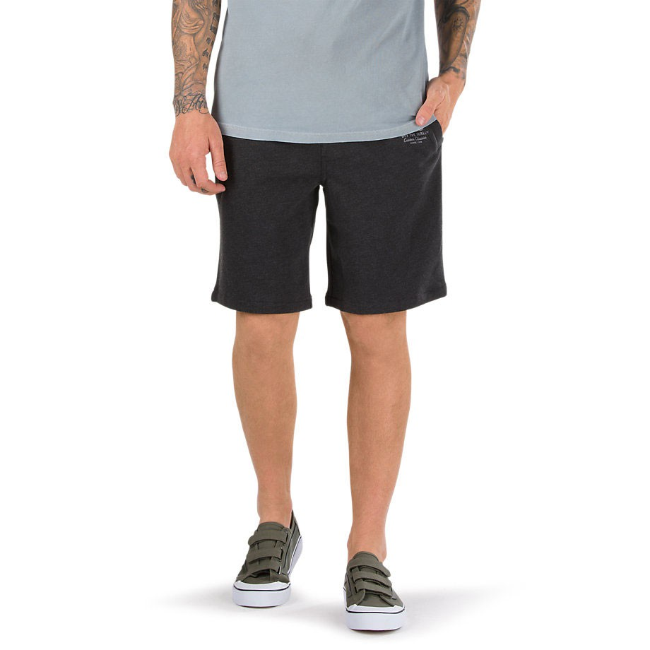 Kraťasy Vans Holder Fleece Short black heather