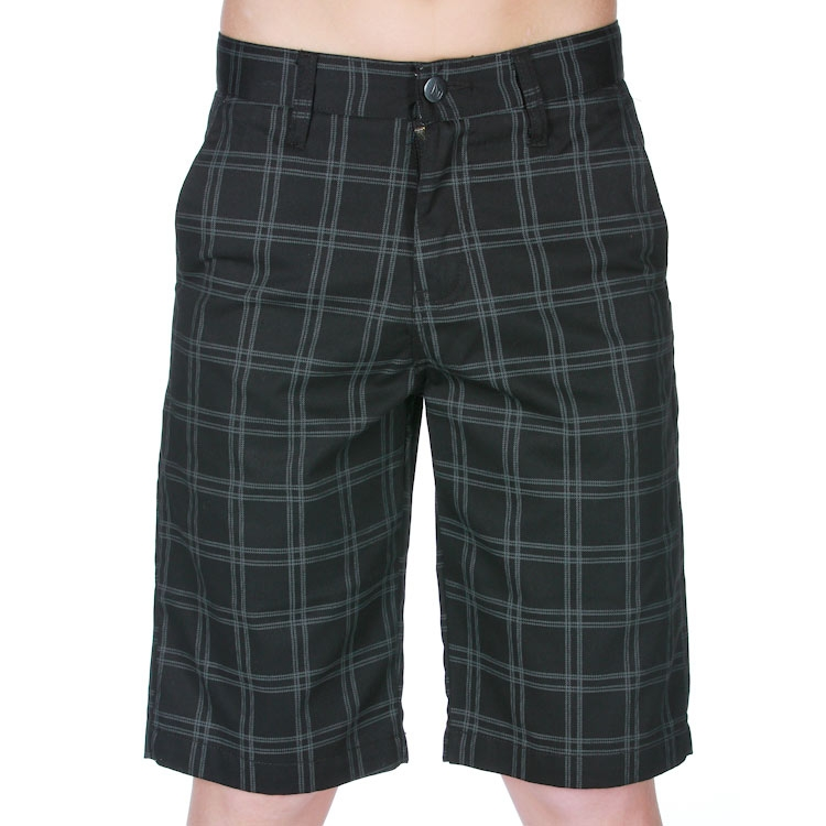 Kraťasy Volcom Frickin Plaid Jr black