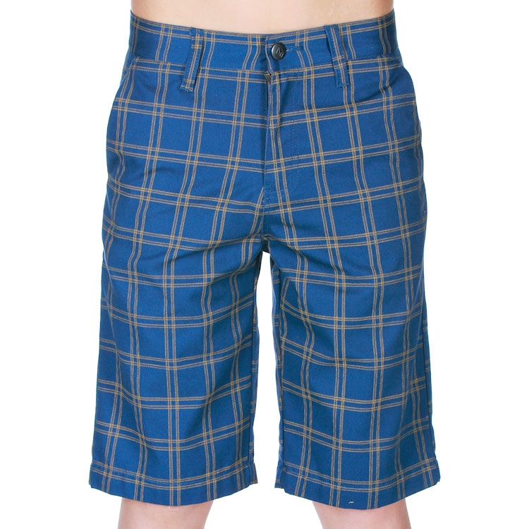 Kraťasy Volcom Frickin Plaid Jr blue moon