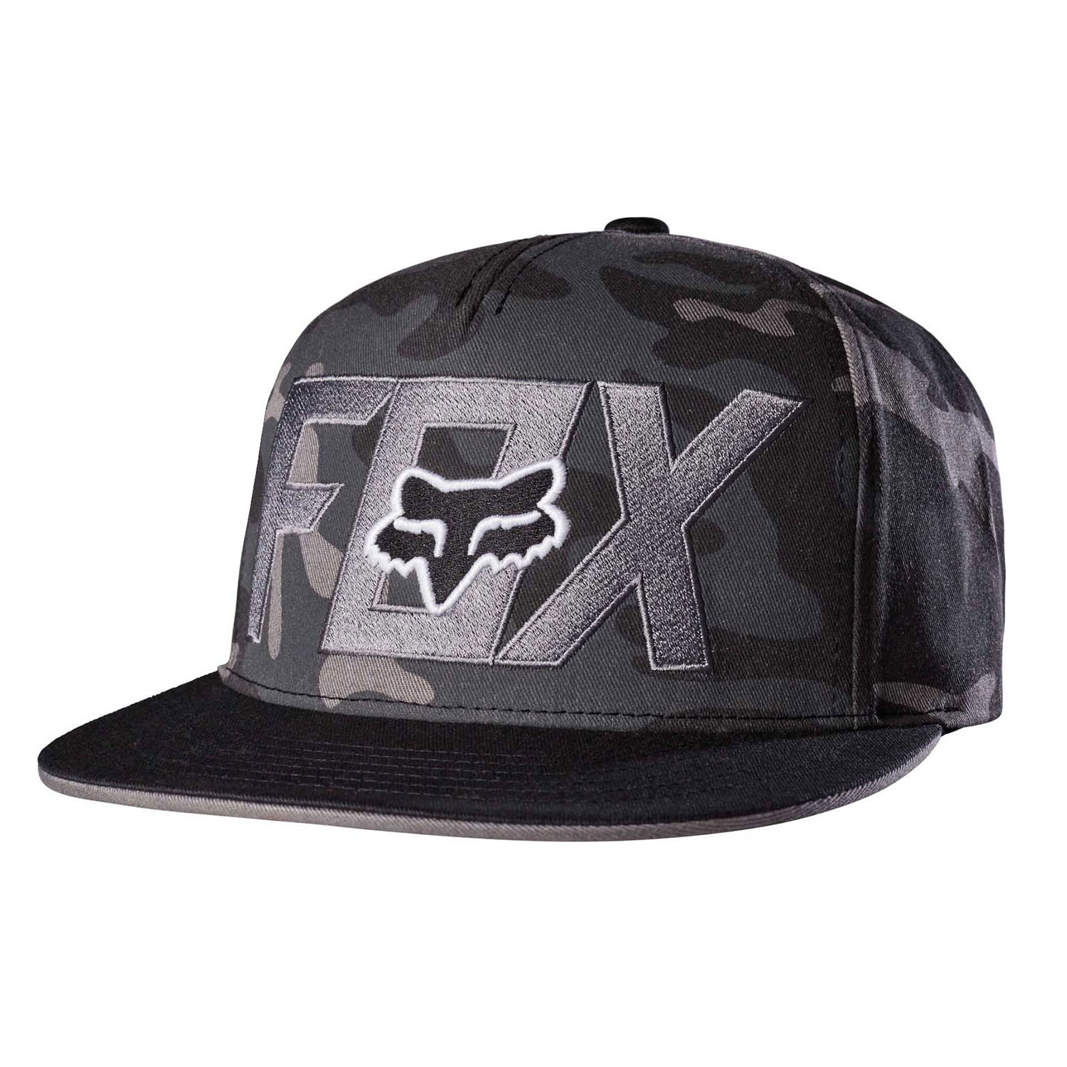 Kšiltovka Fox Keep Out Snapback black camo
