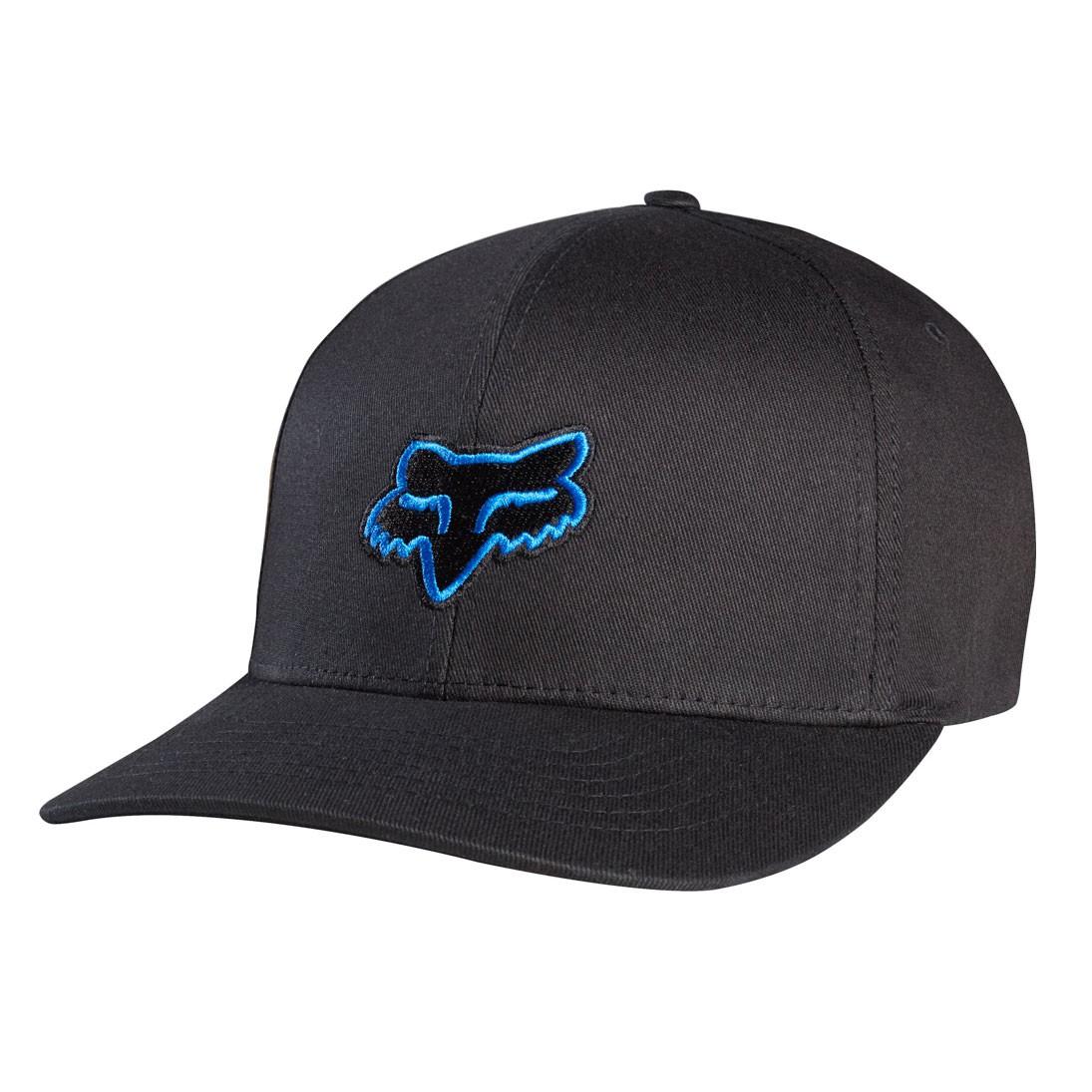 Kšiltovka Fox Legacy Flexfit black/blue vel.S/M 17 + doručení do 24 hodin