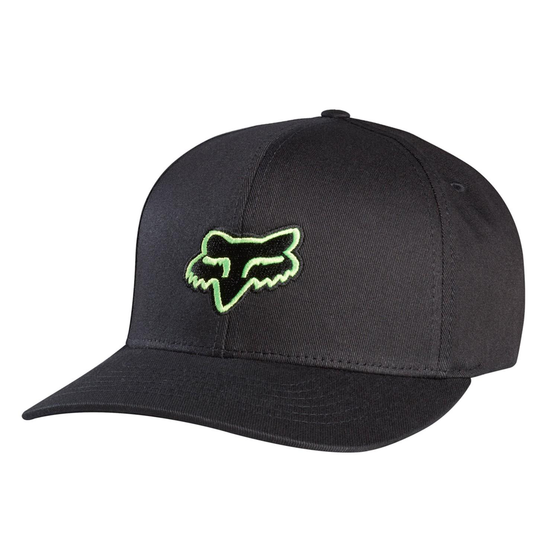 Kšiltovka Fox Legacy Flexfit black/green vel.S/M 17 + doručení do 24 hodin