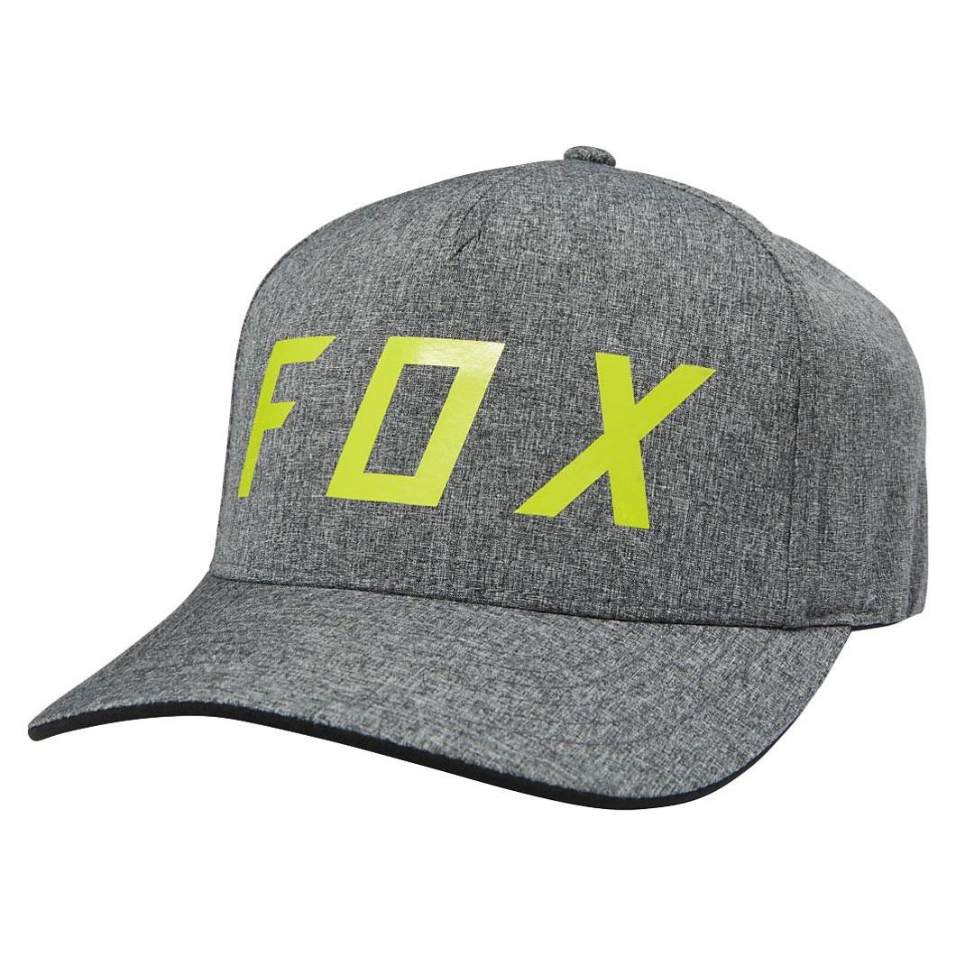 Kšiltovka Fox Moth Flexfit charcoal heather