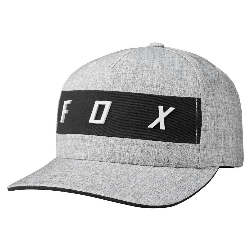 5330d120ba0a1 Cap Fox Set In Flexfit heather grey