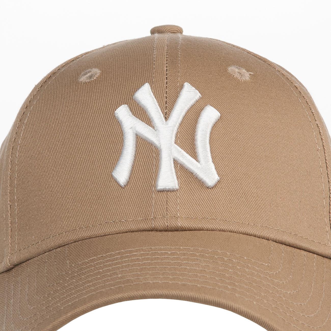 Cap New Era New York Yankees 9Forty Essntl khaki white  32c95a81ca2