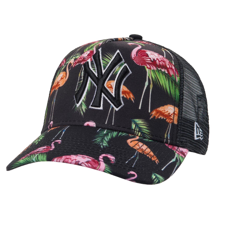 Kšiltovka New Era New York Yankees Trucker Tropi. black/pink