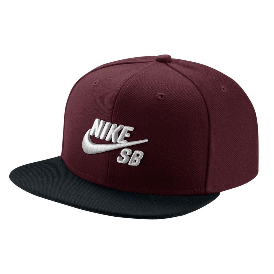 Kšiltovka Nike SB Pro dark team red/black/pine green/w
