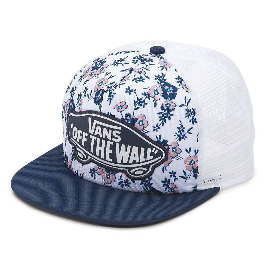 Kšiltovka Vans Beach Girl Trucker white ditsy blooms