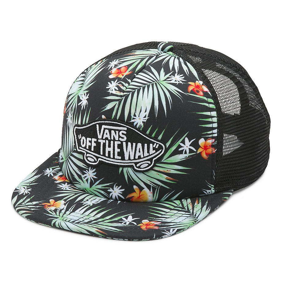 Kšiltovka Vans Classic Patch Trucker black decay palm