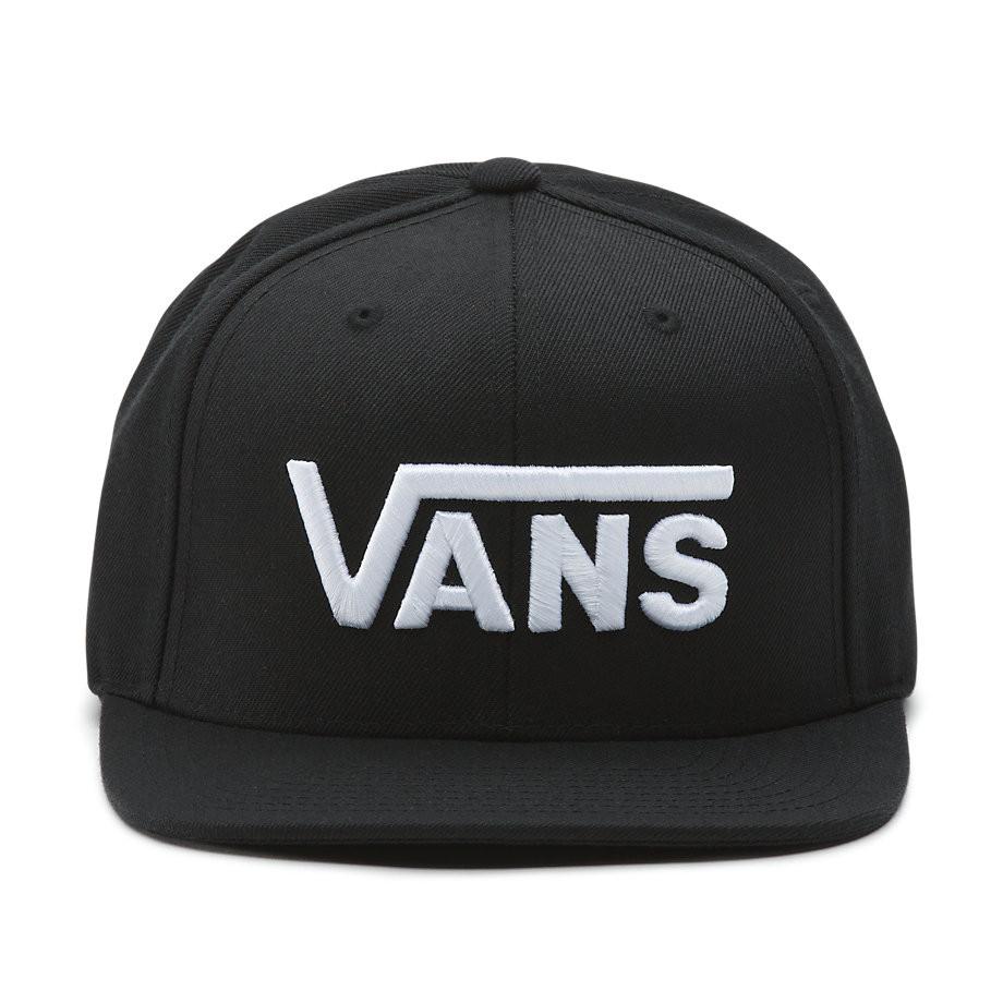 c89b611796e Cap Vans Drop V II Snapback black white