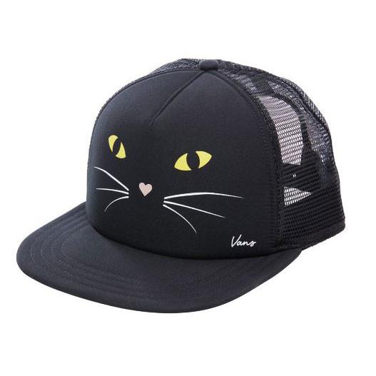 1e969fe54aa Cap Vans Lawn Party Trucker black cat