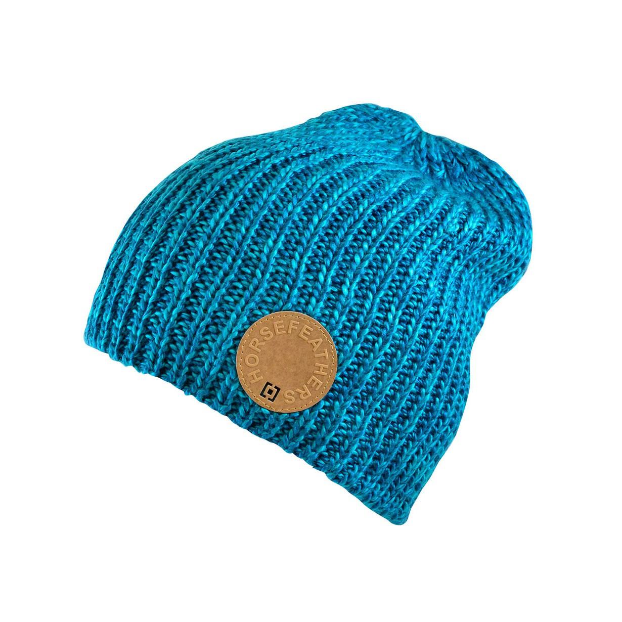 Zimní čepice Horsefeathers Dave blue melange
