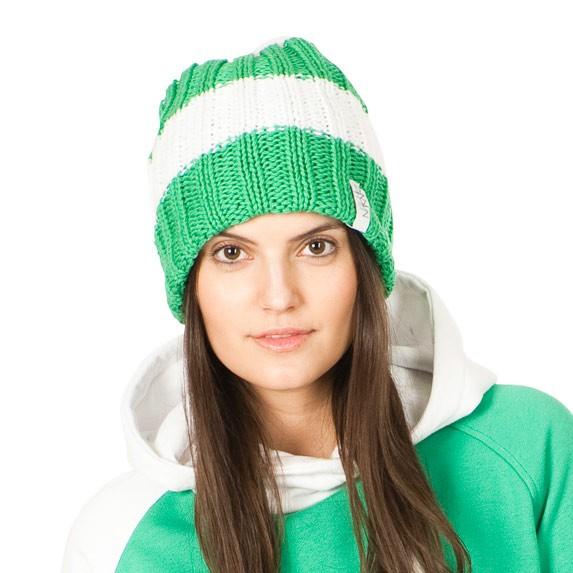 Zimní čepice Nikita Snowbird deep mint/snow white