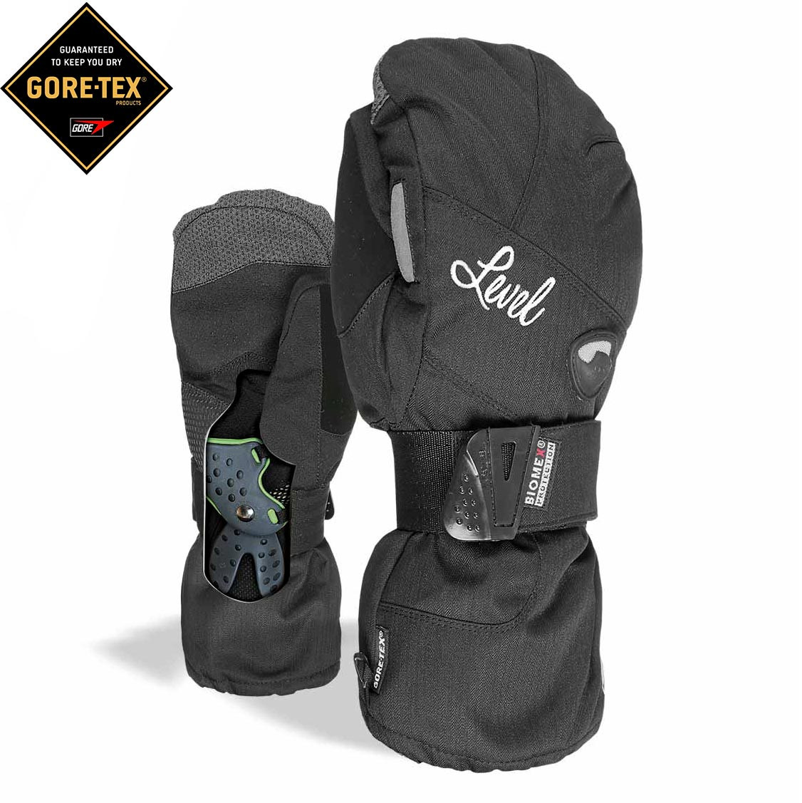 Rukavice Level Wms Half Pipe Mitt Gore-Tex black