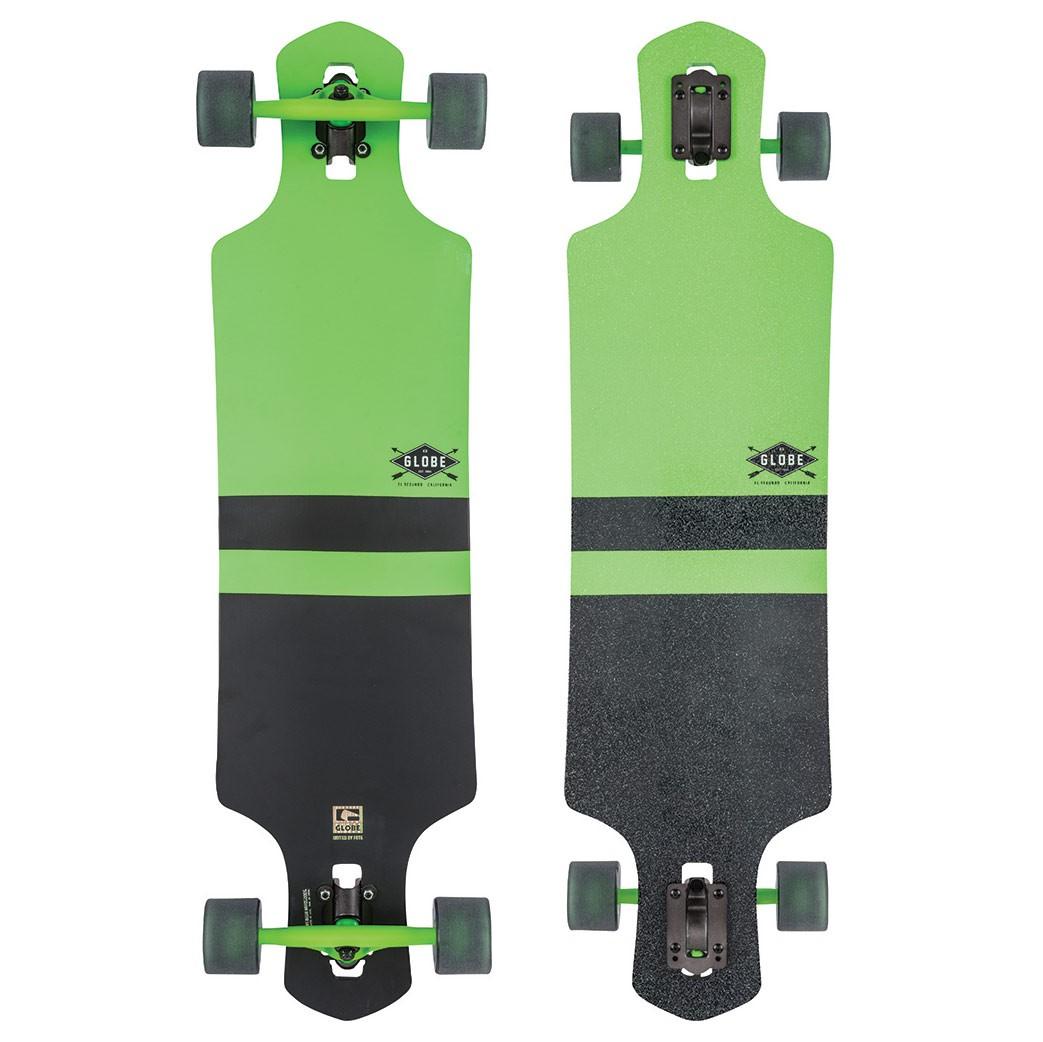 Longboard Globe Geminon fluoro green/black